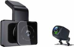 Zwarte TechU™ Dashcam 4K MO4 Pro Dual Camera – Wifi – GPS Tracker – Nachtvisie – Loop Recording – Bewegingssensor – G-sensor – Parkeer Monitor – Voor én Achter Autocamera