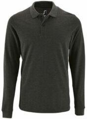 Grijze Polo Shirt Lange Mouw Sols PERFECT LSL COLORS MEN