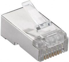 Grijze Goobay Cat6 RJ45 stekker plug voor soepele of stugge kabel 10x