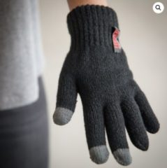 Grijze Heat Keeper Thermo dames handschoenen met i-touch zwart - One size