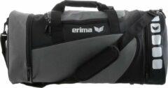Grijze Erima Club 5 (S) Sporttas Met Zijvakken - Graniet/Zwart - Maat S