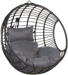 Beliani ASPIO - Hangstoel - Zwart - PE Rotan
