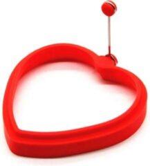 MHT Ei Ring - Pancake Ring - Hartvormig - Rood - Pancake Maker - 1 stuk - Keuze uit 10 Verschillende Varianten