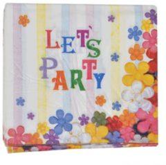 Fun & Feest Party Gadgets Lets party servetten 16 stuks