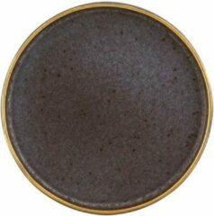 Vista Alegre Gold stone Set 6 Bord 18 cm Zwart Goud Stoneware 621601