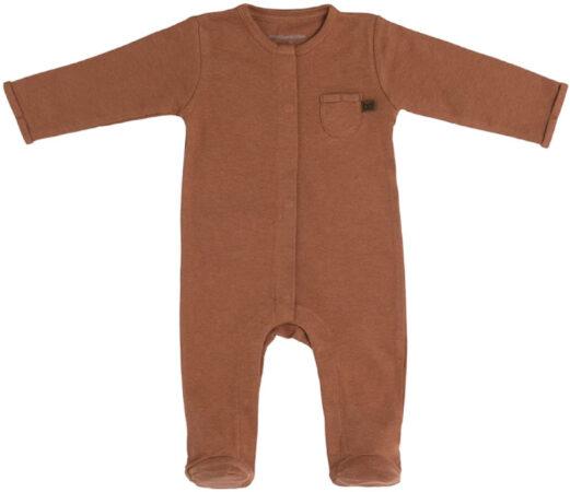 Afbeelding van Baby's Only Boxpakje met voetjes Melange - Honey - 50 - 100% ecologisch katoen - GOTS