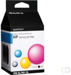 Inkcartridge Quantore HP 950XL + 951XL C2P43AE zwart + 3 kl