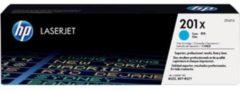 HP 201X CF401X Tonercassette Cyaan 2300 bladzijden Origineel Tonercassette