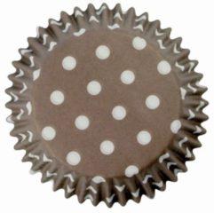Bruine PME Legend PME Cupcakevormpjes Polka Dots Brown pk/60