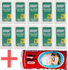 Derby Professional Derby double edge blades 10 pakjes - scheermesjes - klassiek scheermes - gratis arko scheerzeep