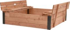 Woodvision Douglas Zandbak Roy met deksel/zitbank 120x120x25 cm