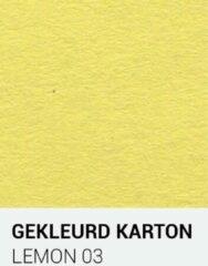 Gele Gekleurdkarton notrakkarton Gekleurd karton lemon 03 A4 270 gr.