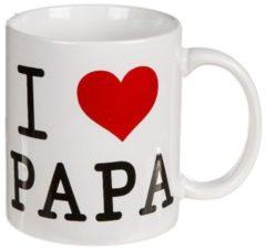 Out Of The Blue Witte mok, beker met I love papa, leuk voor vader
