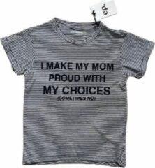 Marineblauwe Little Eleven Paris t-shirt maat 128