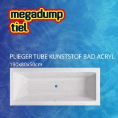 Witte Plieger Tube kunststof bad acryl rechthoekig 190x80x50cm met poten wit 805399000020000
