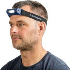 Donkerblauwe Scangrip Zone Hoofdlamp – LED – Oplaadbaar – 75 tot 150 lm – 6000K