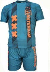 Merkloos / Sans marque Amsterdam Replica Voetbal Tenue T-Shirt + Broek Set 2019-2020 Groen, Maat: 116