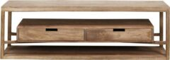 Zandkleurige Duverger® Sands - TV-meubel - massieve mango - zandkleur - 2 lades - L 140cm