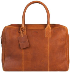 Burkely Taylor Antique Avery Business Schoudertas 15,6 inch 797956 Cognac