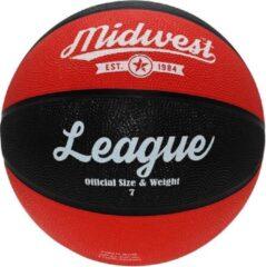 Midwest Basketball League Rubber Zwart/rood Maat 3