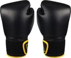 Avento bokshandschoenen PU unisex zwart/geel 10 Oz