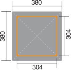WEKA | Tuinoase 651 | 304 x 304 cm | Inclusief spaarset en h-ankers