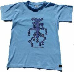 B & C Anha'Lore Designs - Alien - Kinder t-shirt - Lichtblauw - 9/11j (134-146)