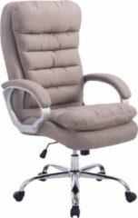 Luxe Comfort Bureaustoel stof - XXL variant - Max 235 kg draagvermogen - Ergonomisch - Taupe