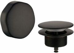 Mueller knop/plug badoverloopcombinatie in mat zwart
