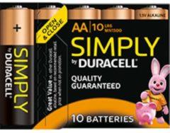 Duracell Simply MN1500 - Batterie 10 x AA-Typ Alkalisch 5000394111882
