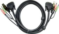 ATEN Technology ATEN 2L-7D03UI - Video- / USB- / Audio-Kabel - USB, Stereo Mini-Klinkenstecker, DVI-D (M) 2L-7D03UI
