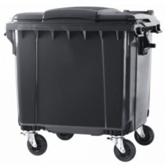 Kliko ESE 4 wiel afvalcontainer 1100 liter grijs