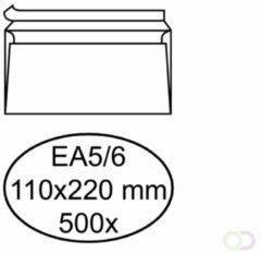 Bruna Envelop Hermes bank EA5/6 110x220mm zelfklevend wit 500stuks
