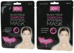 XBC XPEL Charcoal Gesichtsmaske - 2er Set