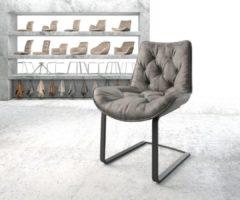 DELIFE Stoel Taimi-Flex sledemodel vlak zwart vintage grijs