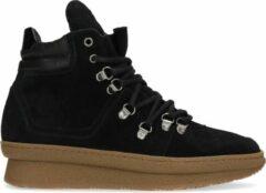 Sacha - Dames - Zwarte suède wedge sneakers - Maat 40