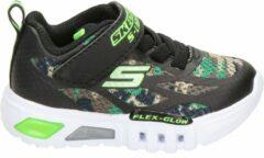 Zwarte Skechers Camo Rondler sneakers met lichtjes groen