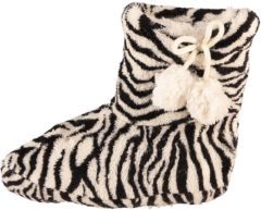 Merkloos / Sans marque Meisjes sloffen met zwart/witte zebra print 28-30