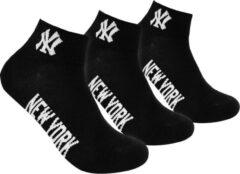 New York Yankees - 3-Pack Quarter Socks - Zwart - Algemeen - maat 39 - 42