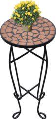 Oranje VidaXL Mozaïek bijzettafel rond terracotta en zwart