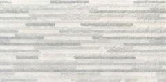 Jabo Syrma wandtegel zilver decor 30x60 gerectificeerd