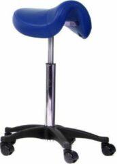 Novicum® Novicum Nissa zadelkruk kappersfiets blauw met medium gasveer en compact zadel kapperskruk