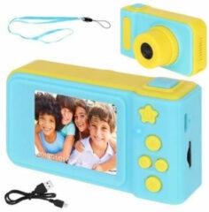 Lichtblauwe Merkloos / Sans marque Kids Digitale Foto Camera 3MP / Videocamera 1080P - Draagkoord - Blauw
