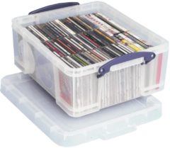Really Useful Boxes opbergdoos voor 93 CD?s of 44 DVD's, transparant, buitenft 480 x 390 x 200 mm, bin...