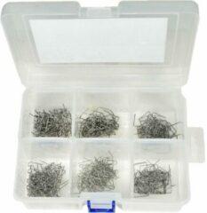 US.PRO Tools by Bergen Assortiment nieten voor kunststof / plastic scheur reparatieset 300 stuks