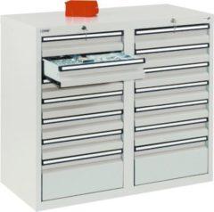 Stumpf Metall Stumpf® STS 410 Schubladenschrank mit 14 Schubladen, lichtgrau - 90 x 100 x 50 cm