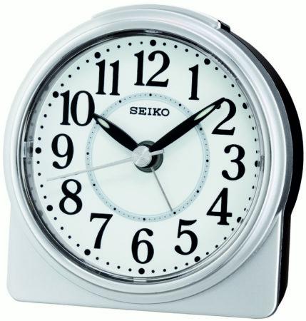 Afbeelding van Witte Seiko wekker met electronisch piep alarm - QHE137S