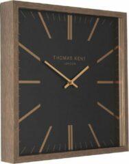 Extra Grote XXL Vierkante Square Klok Thomas Kent Design - Zwart Brons Klassiek - Ø86CM