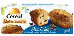 Cereal Mini Cakes met stukjes Chocolade Glutenvrij En Lactosevrij - 3x 230 gr - Voordeelverpakking