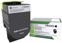 Lexmark Recycling toner CS317 CS417 CS517 CX317 CX417 CX517 71B20K0 Origineel Zwart 3000 bladzijden